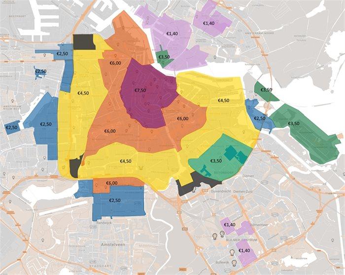 Amsterdam verhoogt parkeertarieven